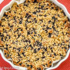 Borůvkový koláč spodmáslím - Spicy Crumbs