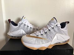 c3413fd7343 Nike LeBron 12 XII Low USA Gold Medal Size 11.5 724557-174. Christopher  White
