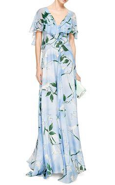 Mariana Silk Floral Maxi Dress by Isolda