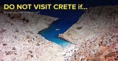 ALERT! Do not come to Crete if... 3. Swimming in not your thing  ▶ http://www.rental-center-crete.com/blog/do-not-visit-crete-if/   #crete #greece #cretanbeaches #visitcrete #seitanlimania
