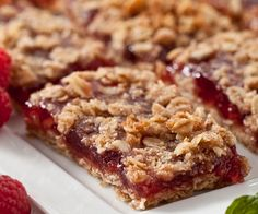 Raspberry Oat Bars.  WW 4 smartpoints