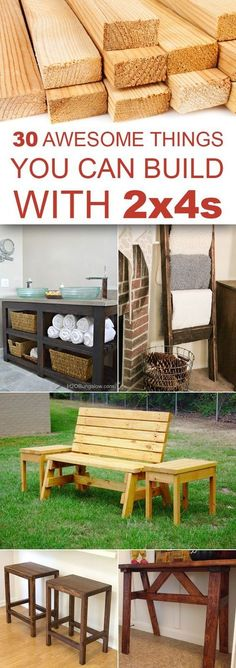 Here are 30 awesome 2×4 projects that you can do in your free time, to make your home even more beautiful and functional.