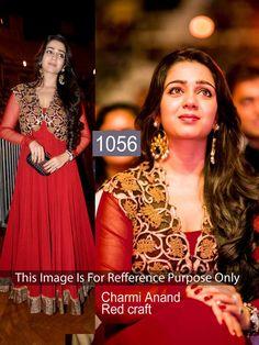 Nilkanth Fabrics Red Georgette Designer Dress Material