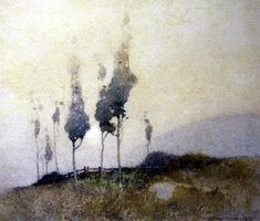 John William Tristam, Early Morning 1918, watercolor
