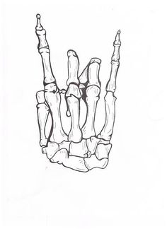 cool idea for a tattoo - rocker skeleton hand