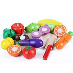 Children Wood Simulation Magnetic Kitchen Toys Set Cutting Fruit Vegetables Game Pretend Play Toys Baby Intelligence Toys 15 pcs -- This is an Amazon Affiliate link. You can find out more details at the link of the image.