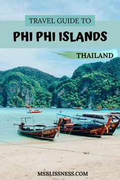 Phi Phi Island Tour: Exploring Paradise - Ms Blissness - Phi Phi Islands is one of the top places to visit in Thailand. Here's everything you need to know about the Phi Phi island tour Thailand Travel Tips, Visit Thailand, Asia Travel, Phuket Thailand, Phi Phi Thailand, Backpacking Thailand, Thailand Art, Thailand Tattoo, Thailand Honeymoon
