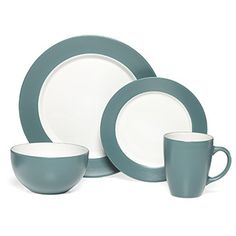 Pfaltzgraff Everyday Aria Teal 16-piece Dinnerware Set - Overstock Shopping - Great Deals on Pfaltzgraff Everyday Casual Dinnerware