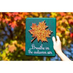 Fall Leaf String Art Breathe in the autumn air by ArtBySharell