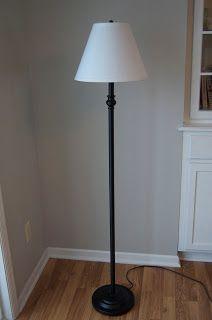 A Glam Bam Floor Lamp Makeover! Floor Lamp Redo, Floor Lamp Makeover, Cheap Floor Lamps, Tall Floor Lamps, Glam Lamps, Diy Lamps, Pole Lamps, Hanging Lamps, Room Lamp