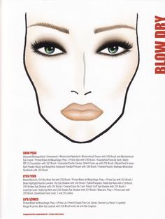 """Pinning for my redhead for someday, she loves makeup; MAC """"Redhead"""" makeup chart - evening look"""