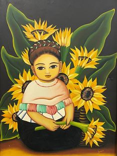 We need colour on a day like today! Images of sun and warmth - a happy little mexican girl! Painted by the latin american artist Yasir. Images Of Sun, Today Images, Princess Zelda, Disney Princess, American Artists, Disney Characters, Fictional Characters, Auction, Mexican