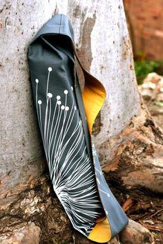 WANT: The Urban Yogi Yoga Mat Bag  Charcoal Burst and by sundarastudio, $80.00