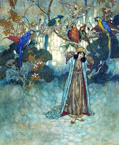 Edmund Dulac illustration from:  The Sleeping Beauty and other Fairy Tales (From the Old French)