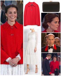 Kate Middleton, duchesse de Cambridge, lors du spectacle équestre présenté le 15 mai 2016 au château de Windsor en l'honneur des 90 ans de la reine Elizabeth II, avec toute la famille royale. Manteau : Zara Robe : Dolce & Gabbana