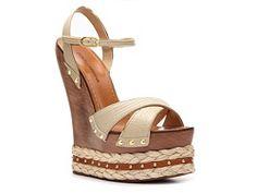 Dolce & Gabbana Reptile Leather Wedge Sandal
