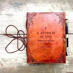 Use this unique journal to write that story you have been thinking about. Materials: Recycled leather, handmade paper - Paper is tree-free and environmentally friendly - Journal size is 5 inches wide