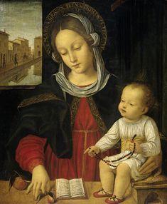 Ambrogio Bergognone, Madonna met kind  (Madonna and Child), 1500 - 1523. http://upload.wikimedia.org/wikipedia/commons/4/4e/Borgognone_-_Madonna_met_kind.jpg