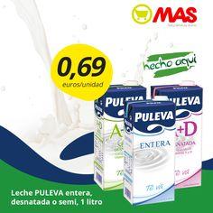 #Oferta de leche Puleva, sólo hasta el día 26 de febrero! Por sólo 0,69€ la unidad de leche Puleva entera, desnatada o semi!  #SaborAndaluz #Ofertas #supermercadosmas