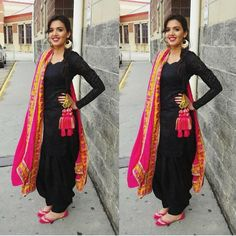 Image result for punjabi suit with parandi