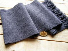 Ready To Ship. Grey handwoven scarf merino wool scarf. Grey Wool Scarf For Men. Men's Scarf. Winter Mens Scarf.