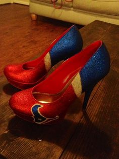 Houston Texans High Heels by FootballAccessories on Etsy, $90.00