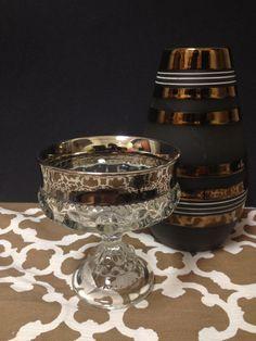 Silver Trim Glass Goblet. Euphoria Resale, www.euphoriaresale.com