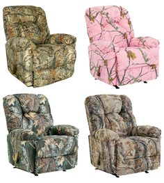 Take A Look At These Camo Recliners For Your Cabin Decor.