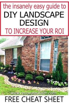 Here are step by step instructions on how to implement simple and cheap front yard landscaping ideas and how to find cheap landscaping plants. Learn how to simplify landscaping with free landscape design software and low maintenance garden ideas for beginners and where to find the right type of plants for your zone. Whether for outdoor living or to improve curb appeal, these garden ideas and best curb appeal hacks will ensure a beautiful outdoor space. Landscaping Plants, Front Yard Landscaping, Landscaping Ideas, Diy On A Budget, Decorating On A Budget, Home Renovation, Outdoor Projects, Diy Projects, Outdoor Spaces