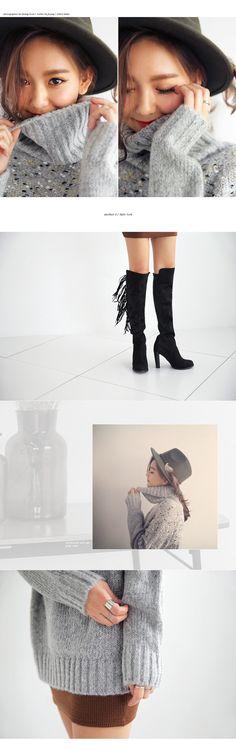 オーバーサイズタートルネックニット・全1色ドレス・ワンピドレス・ワンピ|レディースファッション通販 DHOLICディーホリック [ファストファッション 水着 ワンピース]
