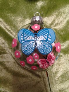 Blooms with Butterflies by howsheseesitecwood on Etsy, $9.95....Can be customized by being painted in your favorite colors..Just send me a message with your order :)