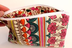 punk projects: Easy Zippered Pouch DIY