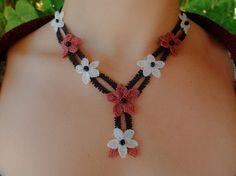 Crochet Necklace Flower Pattern Necklace Boho by OCcreation
