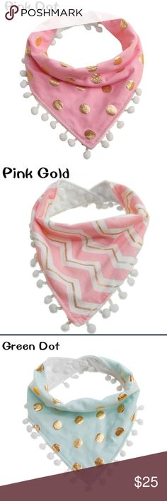 4 Stylish Triangle bibs. Baby Bandana triangle Bib Baby Bandana dribble triangle Bib. 4 bibs are included in the purchase. Easy machine wash. Beautiful and stylish and soft on your baby. Accessories Bibs