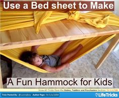 Babies, Toddlers and Preschoolers - Create a Fun Hammock for Kids
