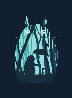 My Neighbor Totoro Art Print. This will go in a nursery!!