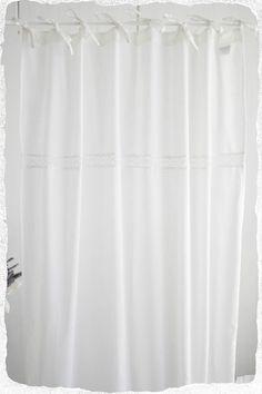 Vorhänge - Vorhänge Gardine 2x(120x240) Shabby Bandaufhängung - ein Designerstück von www-mylovelyhomeshop-de bei DaWanda