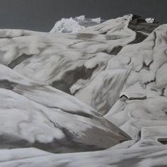 SCHNEELANDSCHAFT 100x100cm 2014 Acryl auf Leinwand von JosefHavelka, €2500.00