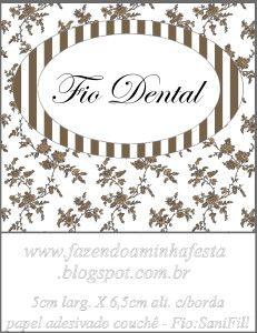 Molde Fio Dental SaniFill - Kit Toilet Banheiro