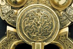 600s Hiberno-Saxon: Gold buckle detail from the Sutton Hoo ship burial