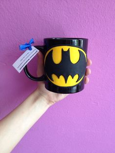 Batman polymerclay handmade homemade mug