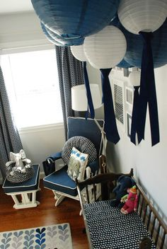 grays and blues...Mrs. Stroller's Elephant Themed Nursery. Makes me think of @Kristeen Kidd