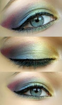 Awesome job with this design! Stunning, subtle rainbow eyeshadow