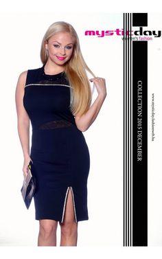 e0eaa8f8b1 Mystic Day fekete strasszos alakformáló ruha
