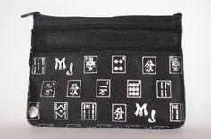 Mah Jongg Black and Silver 3 Zipper Mah Jong Purse for Mahjong Card - List price: $19.99 Price: $9.99
