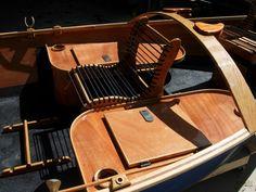 Story idea: Jen's command post. Guide Model rower's seat via cajuneboats.com