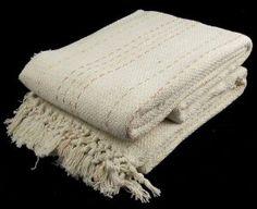100% Cotton Cream 3 Seater Sofa Bed Settee Throw 229cm x 254cm - Dots Design:Amazon:Kitchen & Home