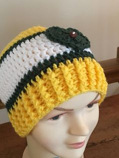 A personal favorite from my Etsy shop https://www.etsy.com/listing/557772555/green-bay-packers-inspired-messy-bun-hat