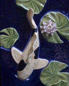 SHOWER TILE, accent tile.  KOI BATH  Ripples