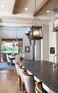 Charming traditional details exhibited by lakefront country estate